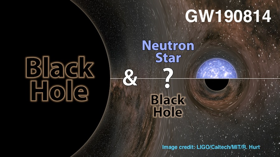 GW190814: Gravitational Waves from the Coalescence of a 23 Msun Black Hole with a 2.6 Msun Compact Object, link the scientific article